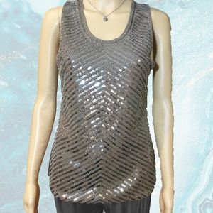 ANGL Sequined Tank Top